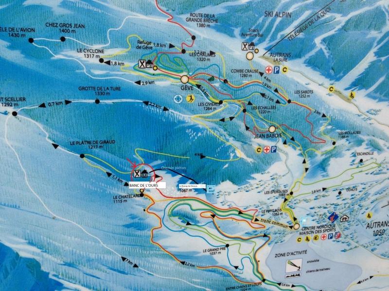 location ski de fond autrans